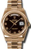 Rolex Day-Date 118205 black Everose Gold
