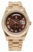 Rolex Day-Date 218235 chocolate Everose Gold