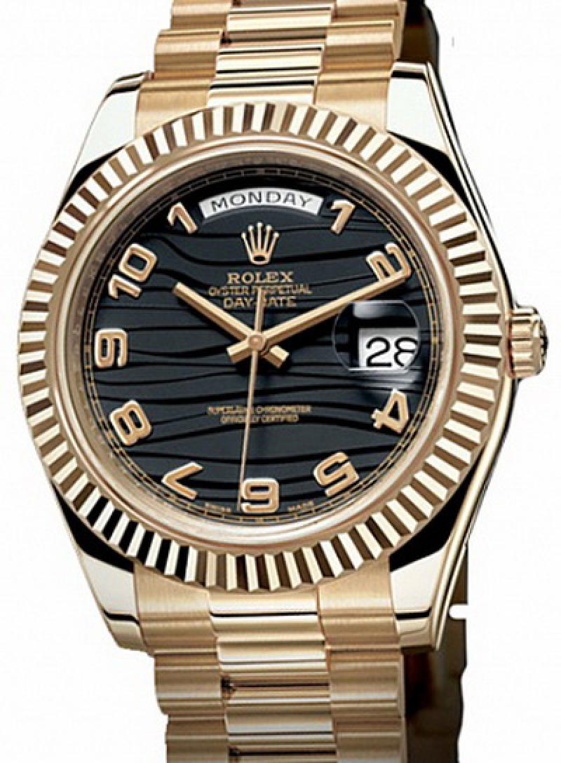 218238 black Rolex Yellow Gold Day-Date