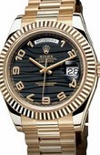 Rolex Day-Date 218238 black Yellow Gold