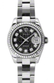 Rolex Datejust Ladies 179174 bkjdo 26mm Steel and White Gold