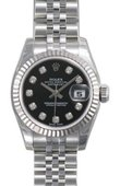 Rolex Datejust Ladies 179174 bkdj 26mm Steel and White Gold