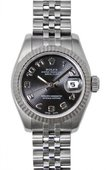 Rolex Datejust Ladies 179174 bkcaj 26mm Steel and White Gold