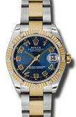 Rolex Datejust 178313 blcao 31mm Steel and Yellow Gold