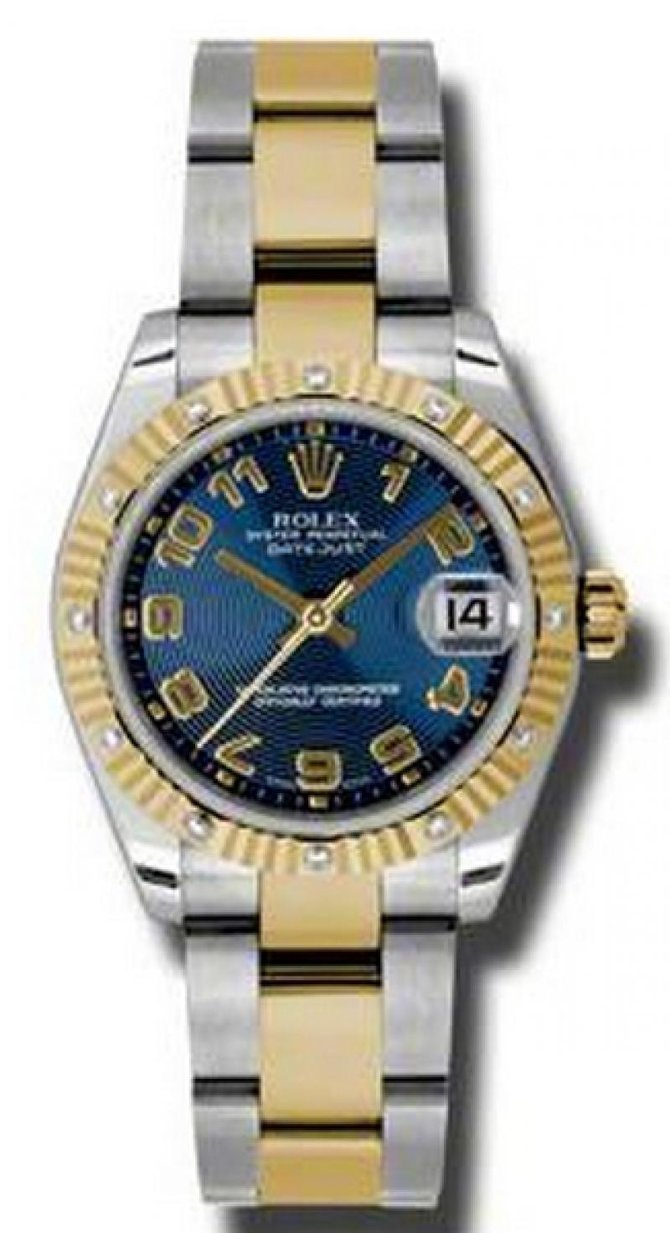 Rolex 178313 blcao Datejust 31mm Steel and Yellow Gold - фото 1