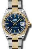 Rolex Datejust 178313 blio 31mm Steel and Yellow Gold