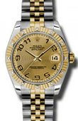 Rolex Datejust 178313 chcaj 31mm Steel and Yellow Gold