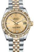 Rolex Datejust 178313 chij 31mm Steel and Yellow Gold