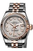 Rolex Datejust Ladies 179171 Metheorite D 26mm Steel and Everose Gold