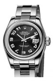 Rolex Datejust Ladies 179160 Black 26mm Steel