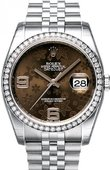 Rolex Datejust Ladies 116244 Brown Floral Jubilee 36mm