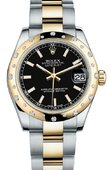 Rolex Datejust 178343 bkio 31mm Steel and Yellow Gold