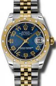Rolex Datejust 178343 blcaj 31mm Steel and Yellow Gold