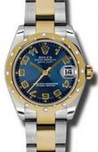 Rolex Datejust 178343 blcao 31mm Steel and Yellow Gold